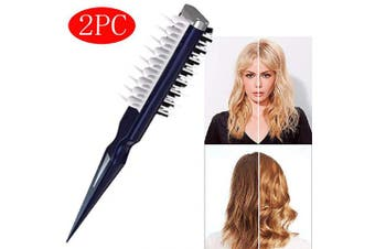 2019-Upgrade Volumia Style Comb - Instant Hair Volumizer Comb Sharks Back Combing Brush (2PC)