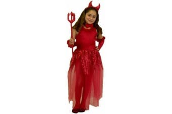 Child's Girl's Devil Costume (Size:Large 10-12)
