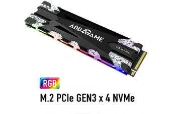 (1TB, X70) - addlink X70 1TB NVMe SSD RGB with Heatsink PCIe Gen 3x4 M.2 2280 Solid State Drive with Read 3400 MB/s/Write 3000 MB/s