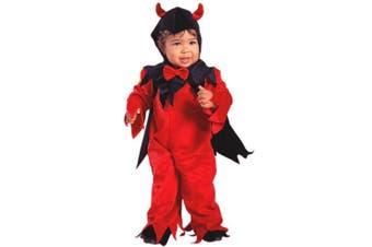 Child's Toddler Fuzzy Devil Halloween Costume (2-4T)