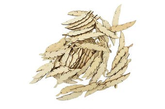Bluecell 95pcs Wooden Feather Craft Tags Hanging Ornament Labels for DIY Craft Gift Christmas Trees Wedding Décor