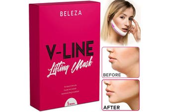 Double Chin Reducer | V Shaped Slimming Face Mask | Face Slimmer | V Line Lifting Mask | Chin Strap 5 PCS