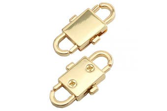 (Light Gold) - Batino 2pcs Chain Adjusting Metal Buckle Strap Bags Chain Change Length Buckle Connector DIY Accessories(Light Gold)
