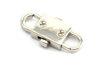 (Silver) - Batino 2pcs Chain Adjusting Metal Buckle Strap Bags Chain Change Length Buckle Connector DIY Accessories Silver