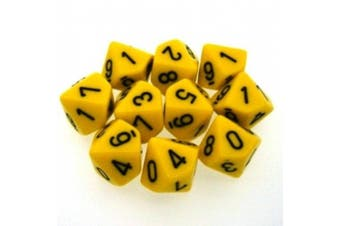 10-sided Dice: Opaque Yellow