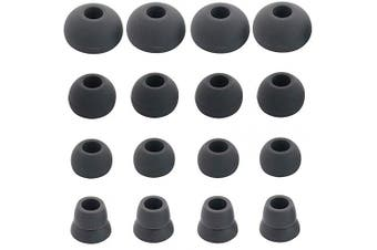 (Dark Gray) - BLLQ Replacement Silicone Ear Tips Ear Buds Ear gels for Beats by dr dre Powerbeats 3 Wireless Stereo Earphones - 16PCS 8 Pairs with 4 Size Options (Dark Grey)
