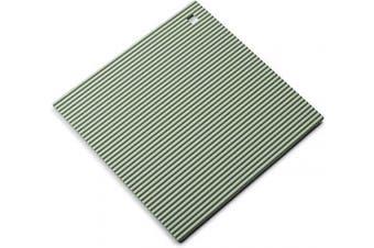 (Sage Green, 22 cm) - Zeal Silicone Heat Resistant Non-Slip Trivet, Sage Green, 22 cm