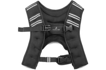 (Black 6lb) - ProsourceFit Exercise Weighted Training Vest for Weight Lifting, Running, and Fitness Body Weight Workouts; Men & Women- 2.7kg, 2.7kg, 2.7kg, 2.7kg, 2.7kg.