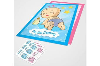 ClassCards Baby shower pin the dummy game A2 poster with stickers upto 70 players both boy and girls
