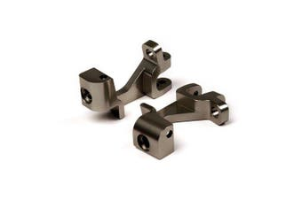 (Front C Hub, Gun Metal) - Atomik RC Alloy Front Caster Block, Grey fits the Traxxas 1/10 Slash 4X4 and Other Traxxas Models - Replaces Traxxas Part 6832