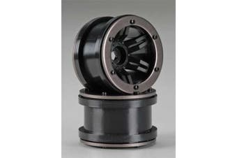 Axial 2.2 Rockster Beadlock Wheels Black AX8091
