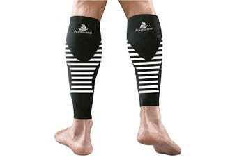 (Large (Calf 38-45cm)) - ActivRunner Calf Compression Sleeves - 2 Pairs - for Graduated Compression, Comfort and Performance for Men and Women for All Sports, Running, Cycling, Workouts, Marathon, Triathlon, Hiking