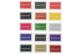 Bright Creations 15 Colours Craft Ink Pad for Stamps