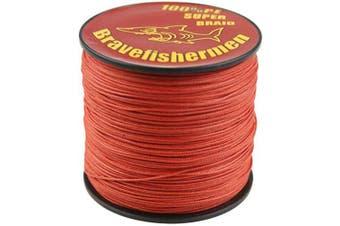 (1000M, 80LB) - Bravefishermen Super Strong Pe Braided Fishing Line 4.5kg to 4.5kg Red