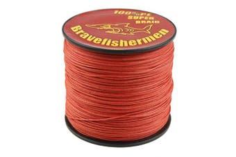 (500M, 40LB) - Bravefishermen Super Strong Pe Braided Fishing Line 4.5kg to 4.5kg Red