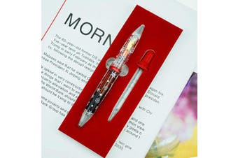 2019 Moonman M2 Fountain Pen Christmas Snow, Eye Dropper Transparent Acrylic Pen, Extra Fine Nib Commemorative Edition Pen