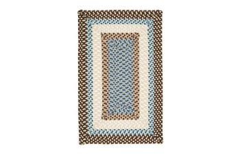 (0.6m x 0.9m) - Colonial Mills MG89 Montego Border Bright Brown Kids Rug Size