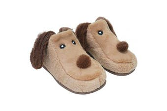 (5 - 6 UK Ladies, Ladies 3d Brown Dog) - Keanu Ladies & Girls Matching Mum & Daughter Peruvian Hat 3D Llama/Sloth/Floppy Dog Cute Cosy Slippers Novelty Gift