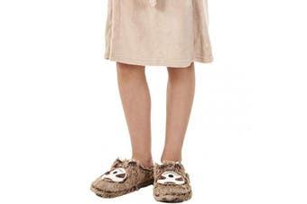 (9/10 UK Child, Sloth Mule Slipper - Girls) - Keanu Ladies & Girls Matching Mum & Daughter Peruvian Hat 3D Llama/Sloth/Floppy Dog Cute Cosy Slippers Novelty Gift
