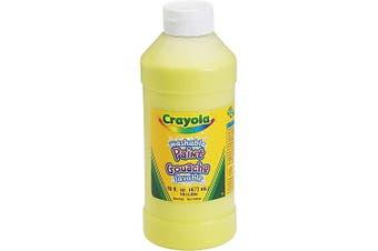 (Yellow) - Crayola Washable Paint 470ml Yellow