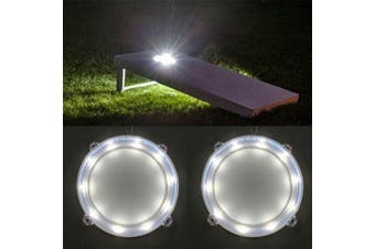 (Ring Lights-White) - 321 Lights Set of 2 Cornhole Board Edge Night Lights Waterproof Lights(Standard Size 1.2mx0.6m),Lasting 100+ Hours on 3 AA Batteries(not Included)