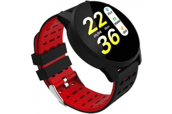 (Red) - vikano Fitness Tracker, Activity Tracker Watch with Heart Rate Monitor Waterproof Smart Fitness Band with Step Counter Calorie Counter Pedometer Watch for Kids Women and Men