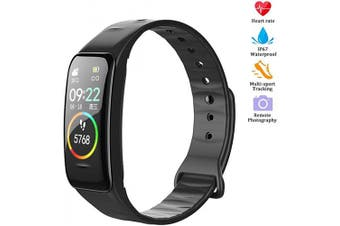 (Black1) - vikano Fitness Tracker, Activity Tracker Watch with Heart Rate Monitor Waterproof Smart Fitness Band with Step Counter Calorie Counter Pedometer Watch for Kids Women and Men