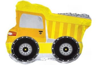 60cm Yellow Dump Truck Shape Balloon