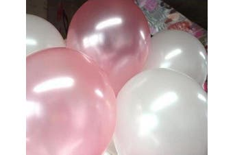 25cm White & Light Pink Helium Balloons for Party Decoration 100 Pcs/lot