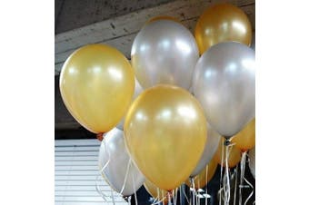 25cm Gold & Sliver Latex Balloons for Party Decoration 100 Pcs/lot