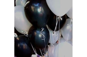 25cm White & Black Pearl Balloons for Party Decoration 100 Pcs/lot