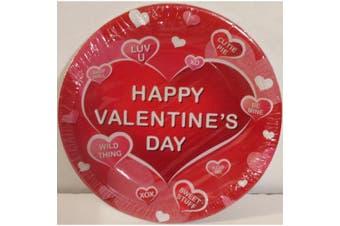 Happy Valentine's Day Dessert Plates