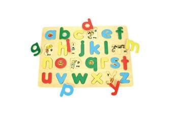 (Lowercase Alphabet) - Bigjigs Toys BJ757 Inset Puzzle Lowercase Alphabet