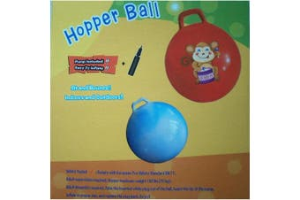 Space Hopper Ball: Yellow, 38cm Diameter for Ages 3-4, Pump Included (Hop Ball, Kangaroo Bouncer, Hoppity Hop, Sit and Bounce, Jumping Ball)