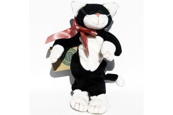 Allie Fuzzbucket Black and White Cat - Boyd's Bears Baby Beanie Plush