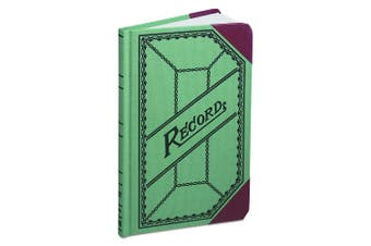 Boorum & Pease Canvas Account Book, Record, 9.1kg., 24cm x 15cm , 200 Pages, Olive Green