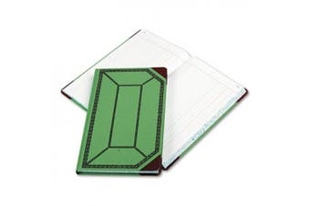Boorum& Pease 6718150J Record/Account Book- Journal Rule- Green/Red- 150 Pages- 12 1/2 x 7 5/8
