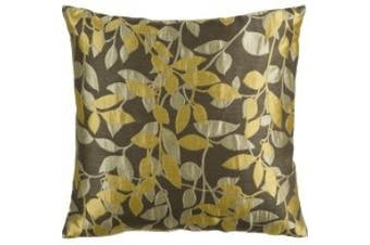 (Poly Fill, 46cm  46cm , Pewter) - Surya HH-060 Hand Crafted 88% Polyester / 12% Polyamide Pewter 46cm x 46cm Floral Decorative Pillow