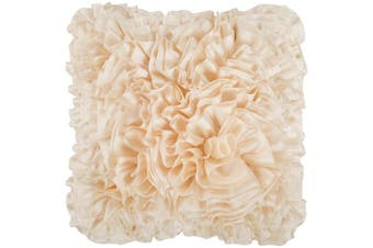 (Down Fill, 60cm  60cm , Ivory) - Petal Pillow - Cream | 55.9cm