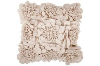 Surya Rugs FA069-2222P Parchment Dimensional Flower 22 x 22 Pillow
