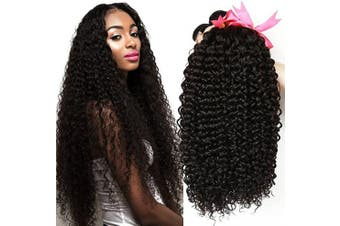 CLAROLAIR Brazilian Kinky Curly Hair Bundles Brazilian Hair 3 Bundles Brazilian Human Hair Bundles Brazilian Curly Hair Bundles Natural Colour (100+/-5g)/pc (18 20 60cm 1B)