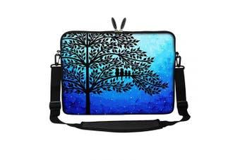 (Family of Birds) - Meffort Inc 15 40cm Neoprene Laptop Sleeve Bag Carrying Case with Hidden Handle and Adjustable Shoulder Strap - Family of Birds