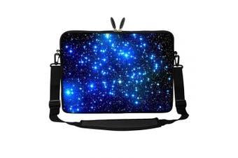 (Galaxy Stars) - Meffort Inc 15 40cm Neoprene Laptop Sleeve Bag Carrying Case with Hidden Handle and Adjustable Shoulder Strap - Galaxy Stars
