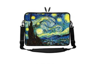 (The Starring Night) - Meffort Inc 15 40cm Neoprene Laptop Sleeve Bag Carrying Case with Hidden Handle and Adjustable Shoulder Strap - The Starring Night