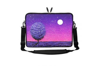 (Night Scene Oil Painting) - Meffort Inc 15 40cm Neoprene Laptop Sleeve Bag Carrying Case with Hidden Handle and Adjustable Shoulder Strap - Night Scene Oil Painting