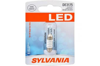 (DE3175, White) - SYLVANIA - DE3175 31mm Festoon LED White Mini Bulb - Bright LED Bulb, Ideal for Interior Lighting - Map, Dome, Cargo and Licence Plate (Contains 1 Bulb)