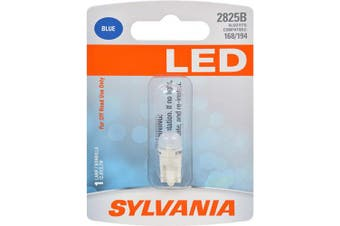 (2825, Blue) - SYLVANIA - 2825 T10 W5W LED Blue Mini Bulb - Bright LED Bulb, Ideal for Interior Lighting (Contains 1 Bulb)