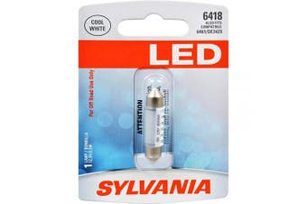 (6418, White) - SYLVANIA - 6418 36mm Festoon LED White Mini Bulb - Bright LED Bulb, Ideal for Interior Lighting - Dome, Trunk, Cargo and Licence Plate (Contains 1 Bulb)