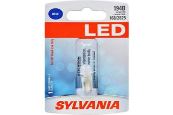 (194, Blue) - SYLVANIA - 194 T10 W5W LED Blue Mini Bulb - Bright LED Bulb, Ideal for Interior Lighting (Contains 1 Bulb)