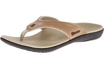 (5, Dark Tan) - Spenco Women's Yumi Snake Flip Flop